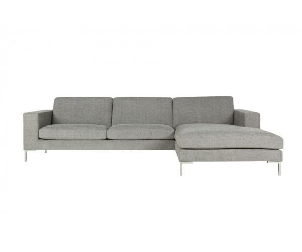 Угловой диван Domino серого цвета